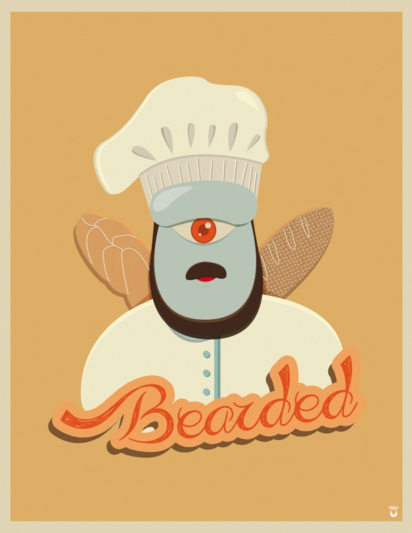 Bearded / Barbudos. by Julián Ramírez, via Behance