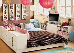 Contemporary Teenagers Girls Rooms Designs 300x217