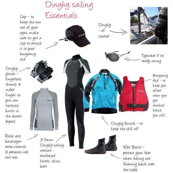 """Dinghy Sailing Gear"" by rainbowunweaver on Polyvore"