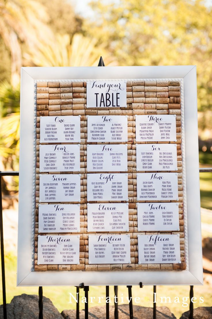 Mt Woodson Castle Wedding Venue I San Diego Wedding Venue I Historic Castle I Full Service Catering I Rustic Wedding I Place Cards I Seating Chart on Wine Corks
