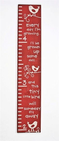 Track your child's growth while also inspiring your kid's room decor with the Bird Growth Chart from Twelve Timbers!  This sweet wooden growth chart will look great in a garden themed girl's room