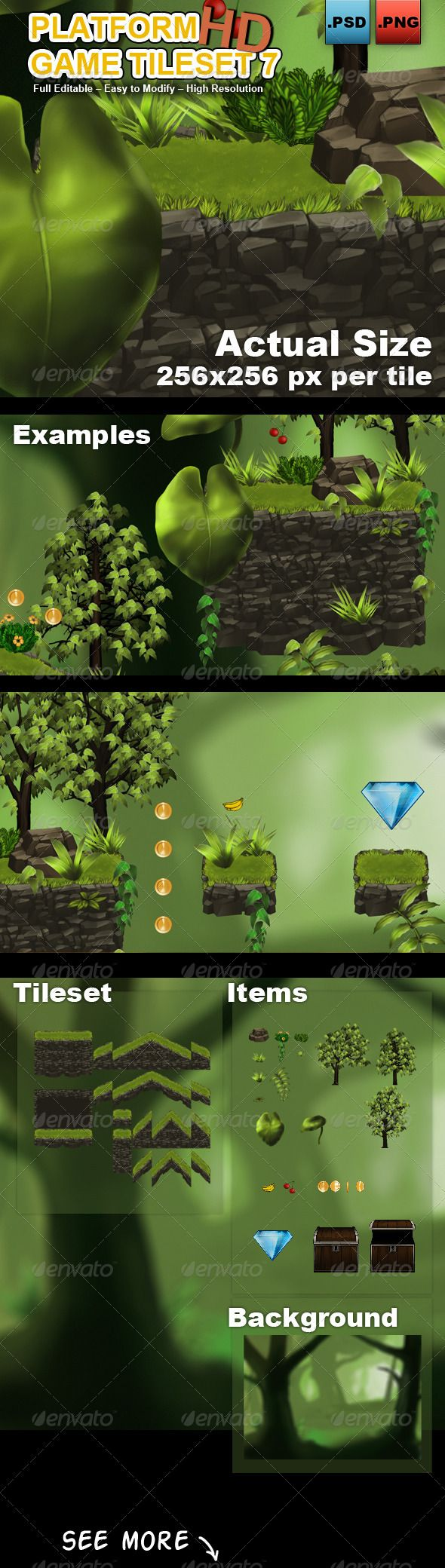 Platform Game Tileset 7 HD