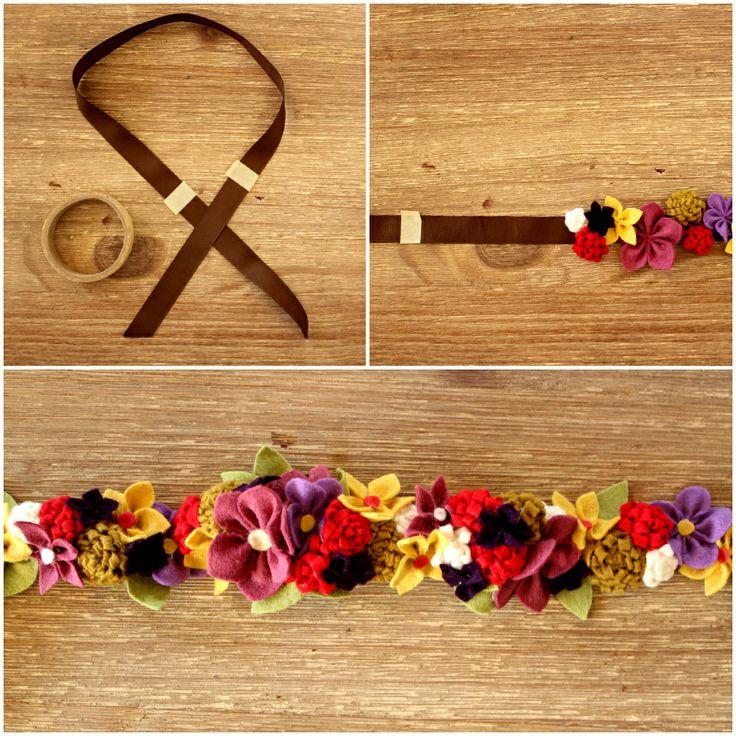 how to make felt flowers for a headband