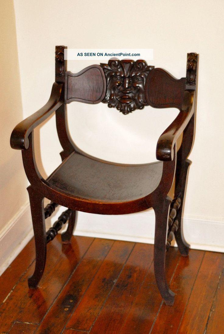 Stomps   Burkhardt Carved Antique Saddle Chair Unique Green Man North Wind  1800 1899 photo. 24 best Stomps Burkhardt Chairs images on Pinterest