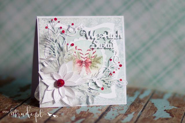 Ręcznie robiona kartka świąteczna na Boże Narodzenie