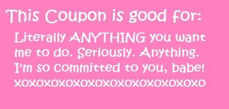 Girlfriend coupons for girlfriend
