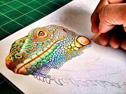 Resultado de imagen para dibujos de diseño grafico a lapiz a color
