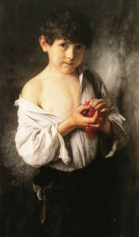 Γύζης Νικόλαος-Το παιδί με τα κεράσια