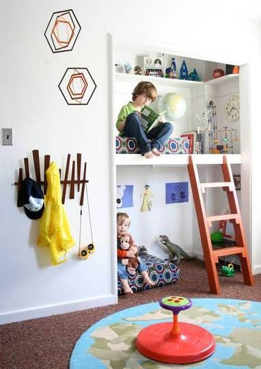 """Closet Envy (But Not the Kind You're Thinking...) - 13 alternative uses for closets when you have kids, from bed """"rooms"""" to book nooks."""