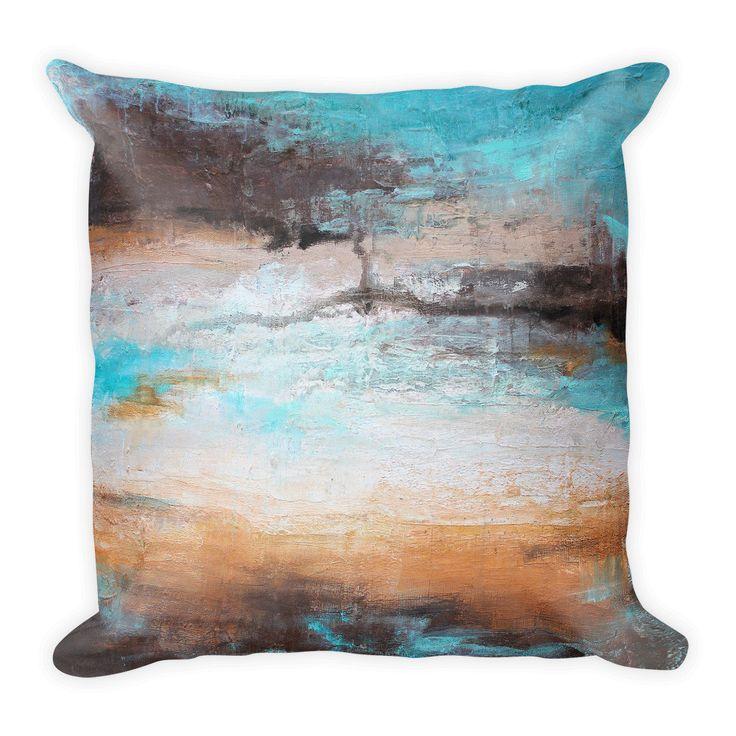 Sea Breeze - Contemporary Throw Pillow