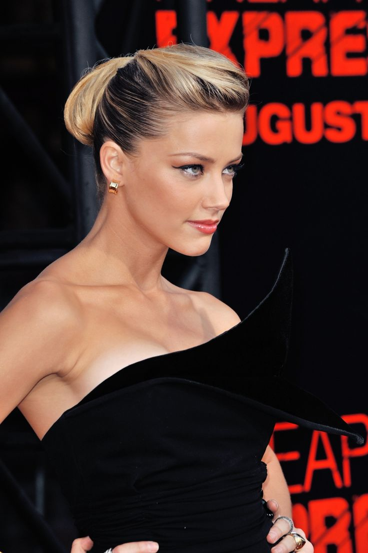 Amber Heard. Love the hair