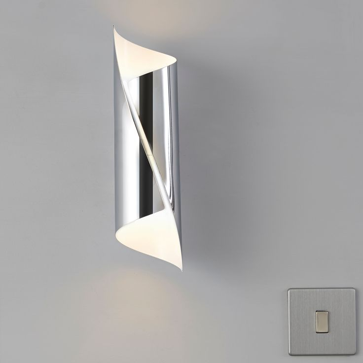 Zodia Cut Tube Chrome Effect Single Wall Light ConservatoryWall LightsBedroom IdeasDining Room