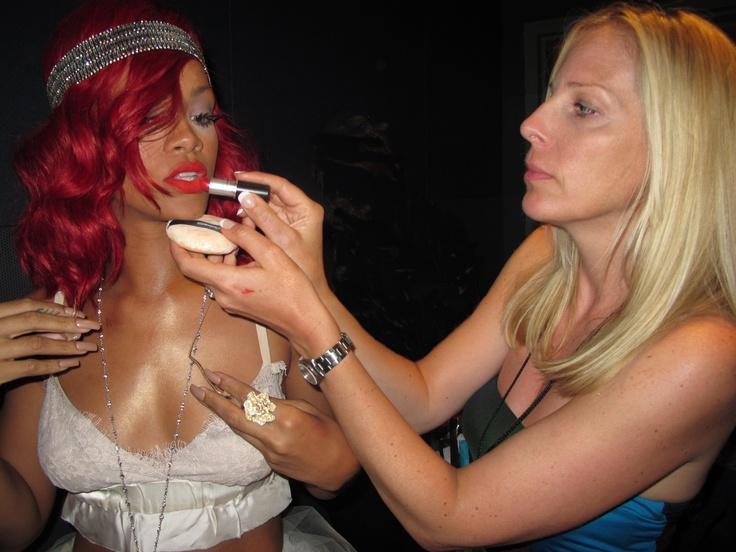Rihanna with Karin Darnell at the VMAs