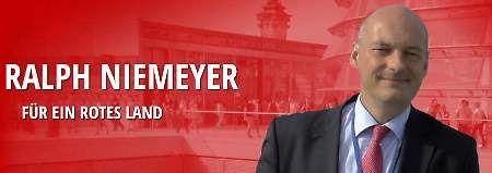 """""""Stachel im Fleisch""""  Wagenknechts Ex will in den Bundestag  Ralph Thomas Niemeyer war 16 Jahre lang mit der Linken-Politikerin Sahra Wagenknecht verheiratet. Nun kandidiert er für die Bundestagswahl - auf einer Landesliste der SPD."""