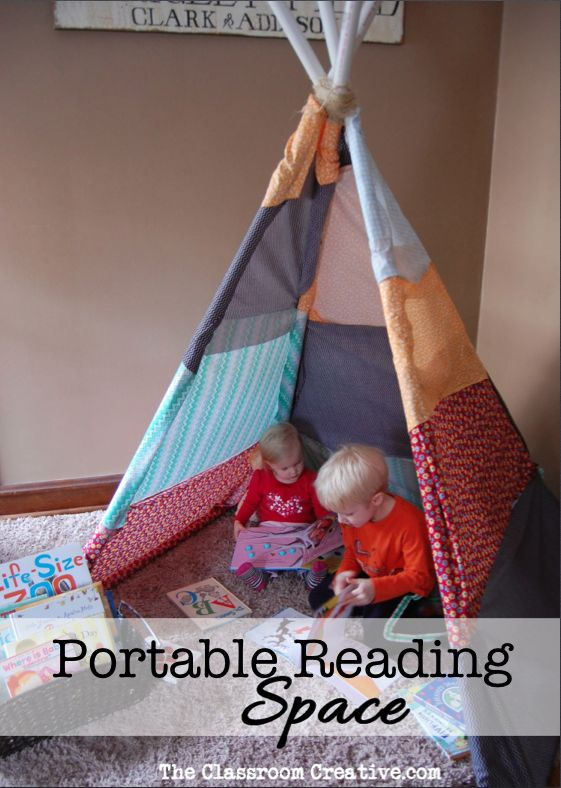 Every primary classroom should have a reading tee-pee!