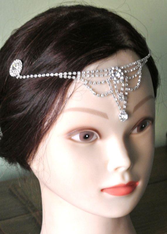 Bridal Headpiece Tiara Prom Head Band Forehead Jewelry ...