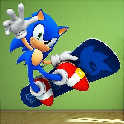 Sonic The Hedgehog Full Colour Print Wall Art Sticker Decal Nintendo Games  Vinyl   Http: