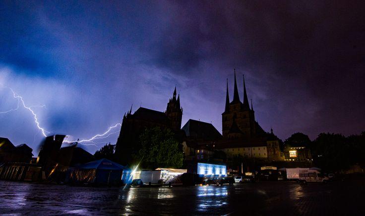 Der #Dom in #Erfurt. Das Foto ist aus dem Juli 2015. Foto: Sascha Fromm