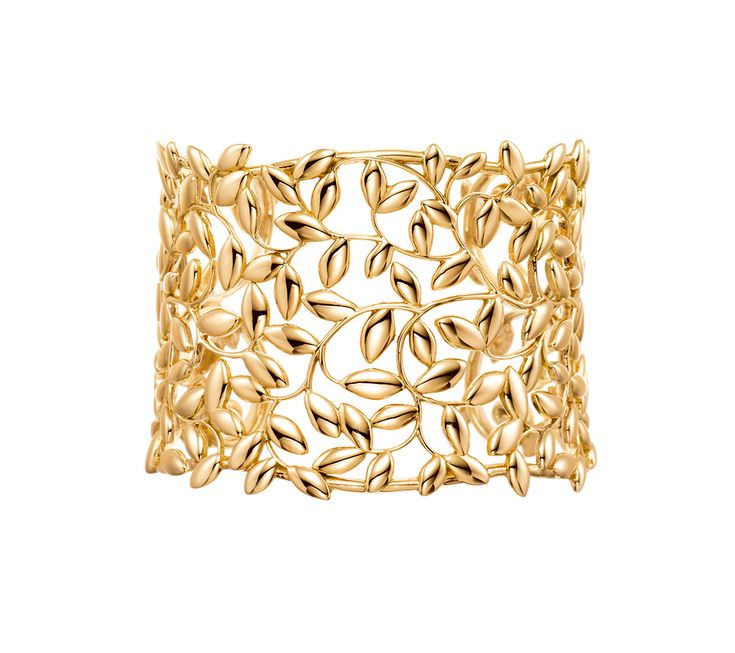 Palomas Olive Leaf cuff in 18ct gold by Paloma Picasso for Tiffany & Co