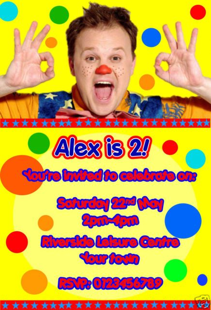Personalised Mr Tumble Party invitations x 10 | eBay