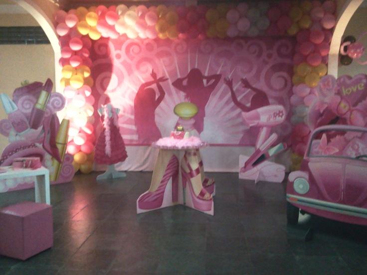Festa pink. Empresa Fantasie Festas Infantis