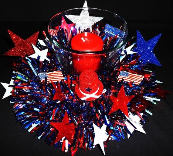 4th of july centerpiece patriotic decorationspatriotic partycenterpiece ideastable
