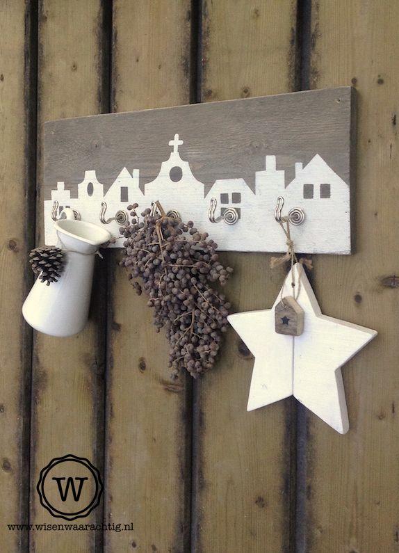 Landelijk decoratie aan een kapstok bijzondere decoratie kapstokken pinterest kapstok - Kantoor decoratie ideeen ...