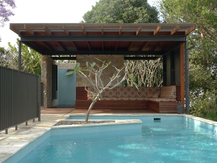 Cedar Pool Pavilion built by Gasper Gasper Landscapes