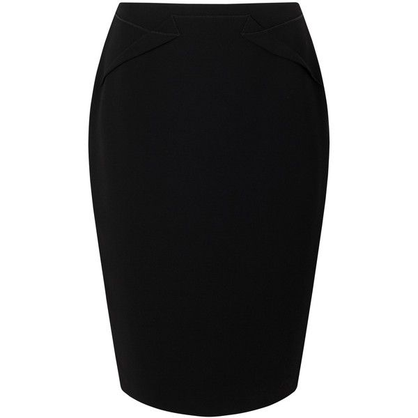 Jacques Vert Petite Pencil Skirt, Black (£79) ❤ liked on Polyvore featuring skirts, bottoms, saias, petite, petite pencil skirt, knee length pencil skirt, jacques vert, pencil skirt and petite skirts