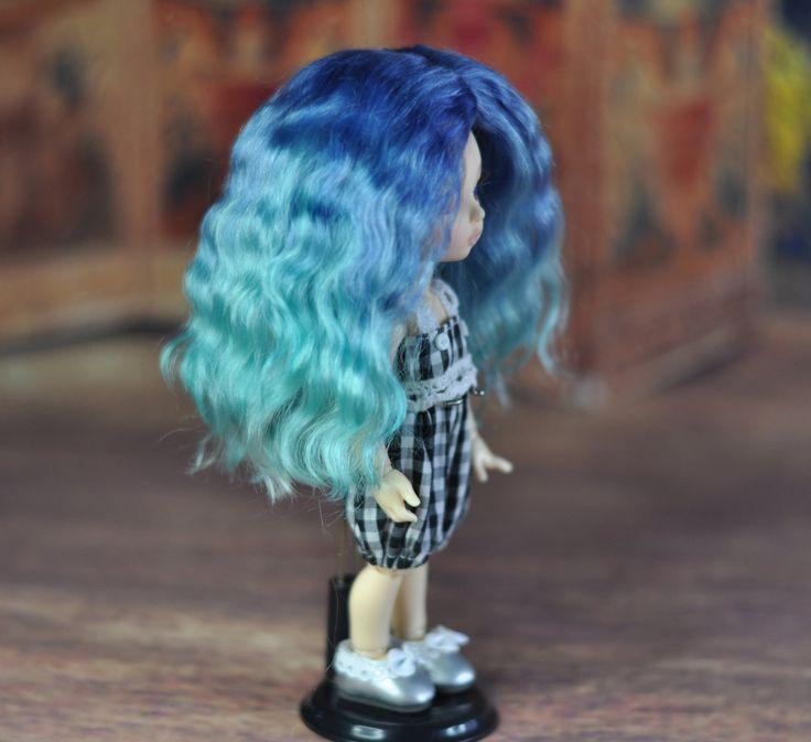Cornflower  - Natural angora BJD wig (sd - msd - tiny) by BlueberryStyle on Etsy