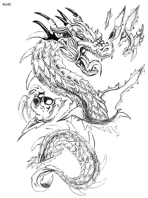 Tattoo Dragon coloring pages pictures best photo