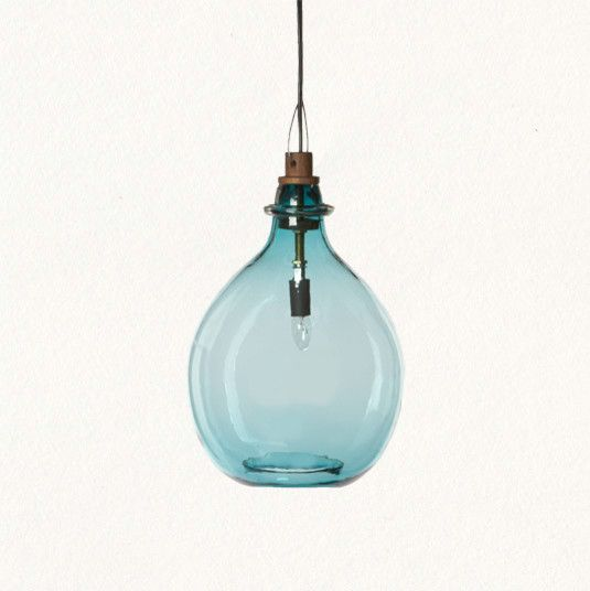For Tropical Blue Glass Pendant Lights Nice Ideas Round Shape Simple Creation Room Decorating