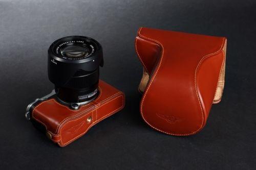 suggestion d'eddy : TP EZ Access Camera TWO Parts Case FOR Fujifilm X M1 Fuji XM1 Genuine Leather | eBay