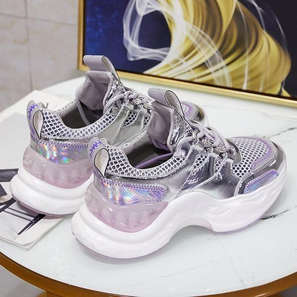 Bella Jurchen Foudre Chunky Thick Sole Women Trainer Sneaker In Silver Trainers Women Sneakers Trainer Sneakers