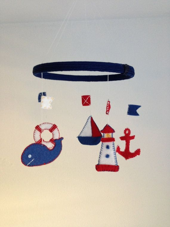 Felted Marine-Themed Mobile