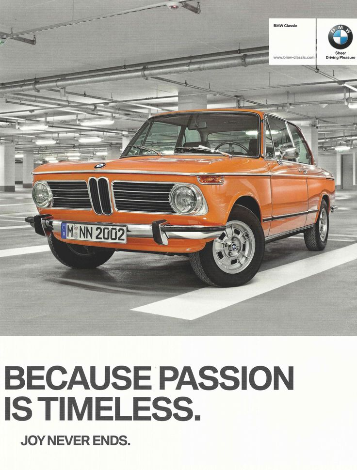 Car Advertisements in Print — 2012 BMW Classic Ad Featuring an Orange BMW 2002...