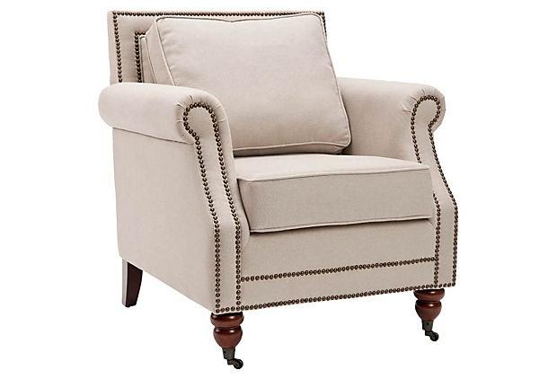 Hudson Club Chair, Beige on OneKingsLane.com: Decor, Living Rooms, Livingroom, Club Chairs, Lenox Club, Furniture