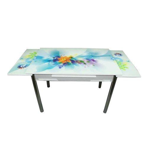 Mavi Mobilya Masa Yandan Açılır Turkuaz Çiçek Desen Fiyatı