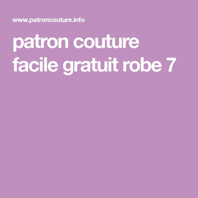 patron couture facile gratuit robe 7