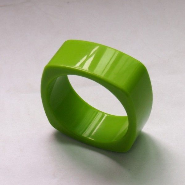 Vibrant Green Food Grade Silicon Teething Bangle