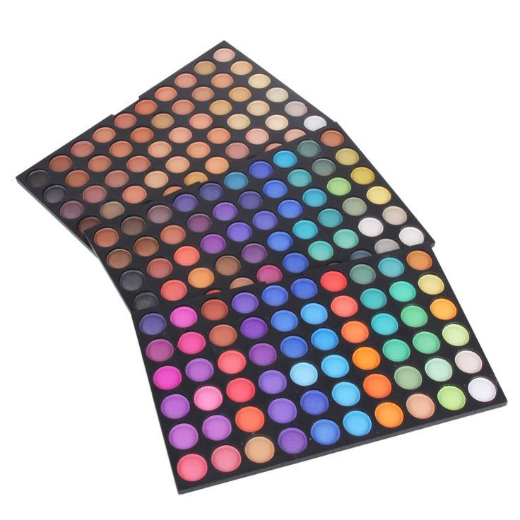 Профессиональный 180 Цветов Макияж Тени Для Век Палитра Красочный Мерцание Матовый Nude Палитра Теней Женщины Составляют Красота Maquiagem