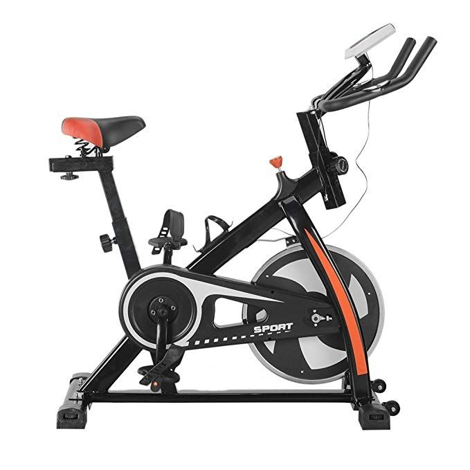Akonza Indoor Cycle Trainer Fitness Bicycle Stationary Exercise Cycling Health Workout W Wheel Black Biking Workout Indoor Bike Trainer Exercise Bikes