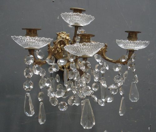One from a pair of Antique French 19th Century wall lights from www.jasperjacks.com