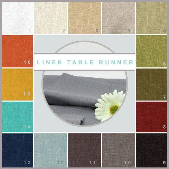 Linen Table Runner  100% European Linen  6 by erinlanglanddecor
