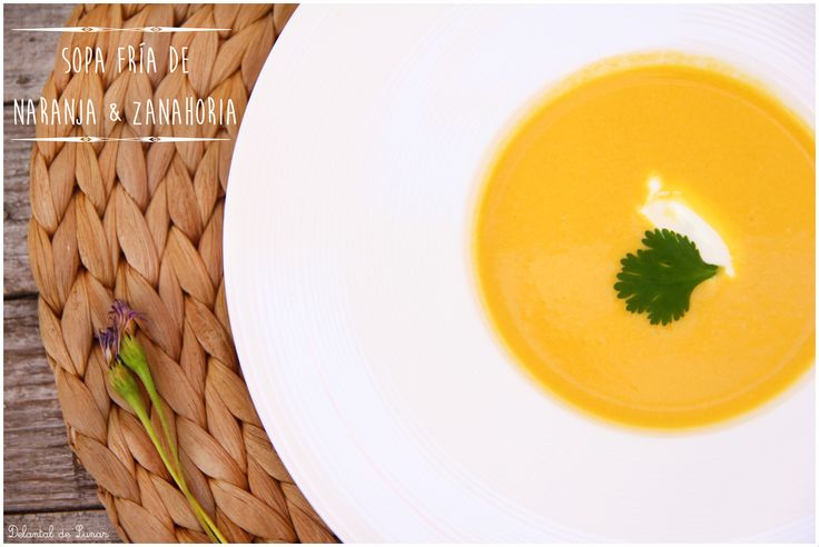 Receta de Sopa fría de naranja y zanahoria. #recipes #cold #carrot #orange #sun #tanned