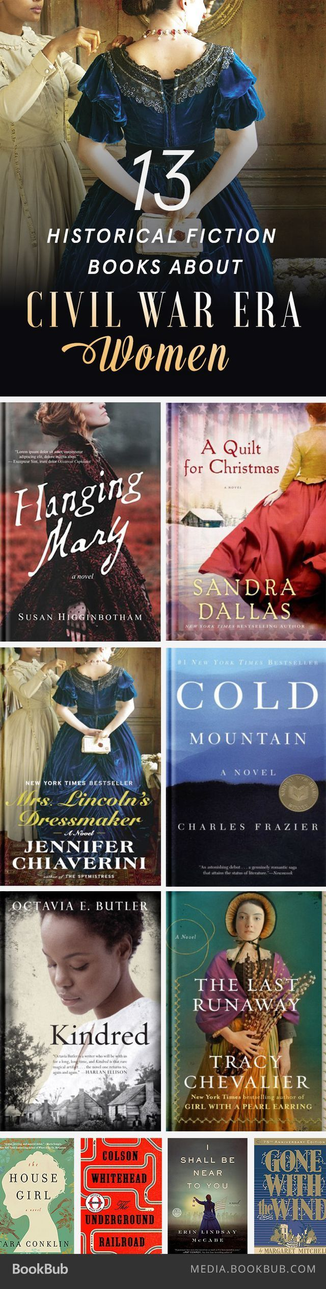 13 Historical Fiction Books About Civil War Era Women - Looking for your next historical fiction read? Check out these 13 books about women in the Civil War.