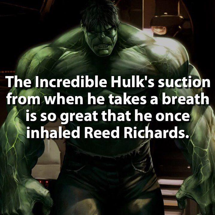Reed couldn't get out  | Follow @dcfact | #superhero #hulk #marvel…