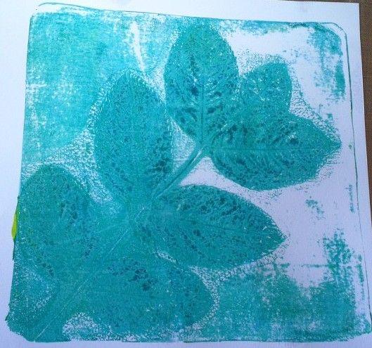 Leaf print 2nd @Gelli Arts®