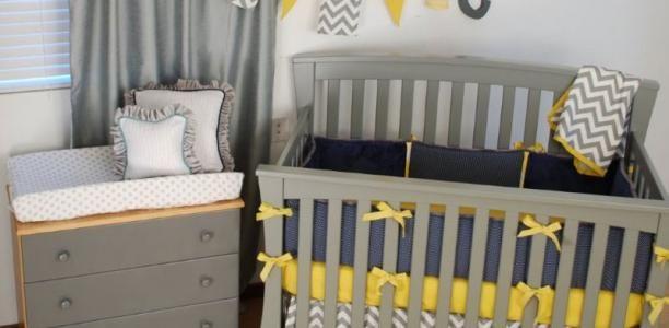 Yellow Crib Bedding   Pine Creek Bedding