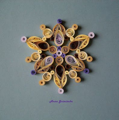 quilling ornaments by Anna Gnieciecka